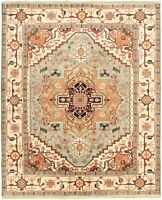 """Hand-knotted Carpet 8'0"""" x 9'9"""" Serapi Heritage I Traditional Wool Rug"""