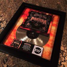 Pantera Official Live 101 Proof Platinum Record Disc Album Music Award MTV RIAA