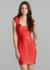 French Connection Spotlight Bandage Dress SZ 6 Red Cocktail Party Club Wiggle