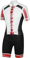 Castelli San Remo Speedsuit Cycling Skinsuit Size Large White/Red/Black