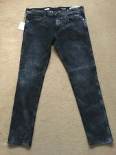 Mens Replay Anbass Tapered Slim Stretch Fit Jeans Size W34 34l