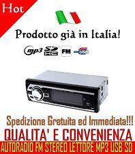 STEREO AUTO AUTORADIO FM MP3 USB SD AUX 50W X 4 IN OFFERTA SPECIALE