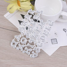 1 Set Letter Alphabet Metal Cutting Dies DIY Scrapbooking Paper Card Stencil  te