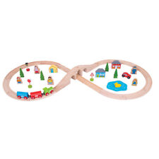 Figure of Eight Train Set - 40 pieces - Bigjig wooden set compatible with Thomas