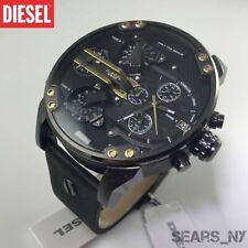 63ea62280 New listing ✅ DIESEL Men's MR.DADDY 2.0 Black Dial Black Leather Gunmetal Watch  DZ7348 57mm