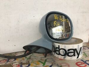 84-90 Ford Escort Right Passenger Side View Mirror Cable w/ Chrome Knob oem