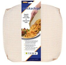 Quickachips Non Stick Oven Mesh Tray Ideal For Chips Pizza Wedges - Natural