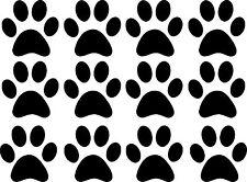 12 x Animale Paw Prints Adesivo Decalcomania in Vinile per Auto/Finestra/Muro