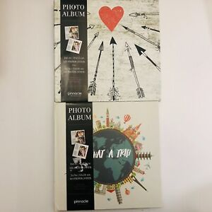 """Lot of 2 Photo Albums: Pinnacle """"What a Trip"""" and Heart Firs 60-120 Photos Each"""