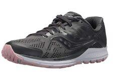 Saucony Women's Ride 10 Running Shoe, Gunmetal/Pink, 8 Medium US NEW