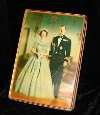 QUEEN ELIZABETH II DUKE OF EDINBURGH 1952 EDWARD SHARP & SONS LTD. BISCUIT TIN