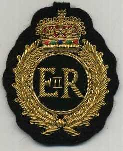 englischer ROYAL Wappen AUFNÄHER in feinem GOLDMETALLFADEN !!! zum annähen !!