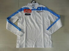T. XL 2013 NAPOLI POLO MANGA LARGA JUGADORES PLAYER COTTON SHIRT JERSEY BIANCA