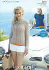 Ladies Top in Sirdar Amalfi DK Yarn, Knitting Pattern 7779
