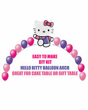 Hello Kitty Birthday BALLOON ARCH for Cake Table or Gift Table Hello Kitty Party