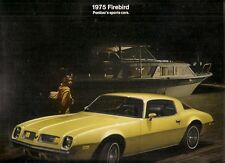 Pontiac Firebird 1975 USA Market Foldout Sales Brochure Esprit Formula Trans Am
