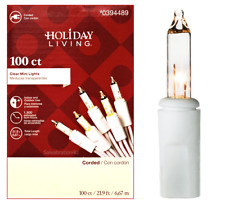 HOLIDAY LIVING 100-COUNT CLEAR MINI LIGHTS w/WHITE WIRE WEDDINGS OR YEAR-ROUND