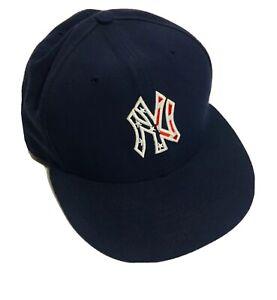 New Era 59fifty Genuine Merchandise New York American Flag Design On Field Cap