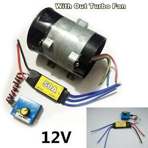 12V ESC Drive Controller Car Electric Turbine Power Turbo Charger Air Intake Fan