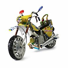 Handcrafted African Motorcycle made of recycled metal soda cans YELLOW ICE TEA