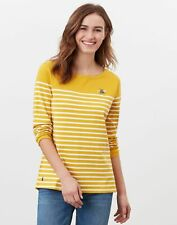 Joules Womens Harbour Long Sleeve Jersey Top - Gold Creme Stripe
