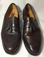 Johnston & Murphy Mens Dress Shoes Tassel Loafers 10-1/2M Brown Slip On 59-11274