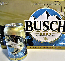 Brand New! Limited Edition Busch Beer Can Florida Fishing Bass