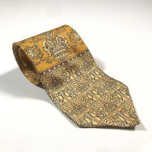 90s Vintage VERSACE CLASSIC V2 Mens Tie | 100% Silk Made in Italy Baroque Medusa
