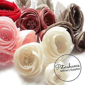Silk 'Michelle' Ranunculus Style Millinery Fascinator Flower Hat Mount