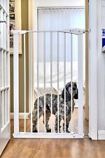 Callowesse Extra Tall 110 cm Pet Dog Gate 75-82 cm (Extendable to 96 cm) - White