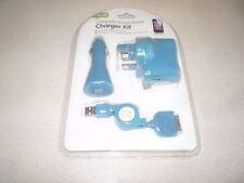 Smart completa 3 en 1 Kit De Cargador Iphone 3,4 y 4S (azul)