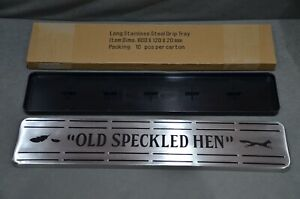 Old Speckled Hen Long Stainless Steel Drip Tray In Box Brand New 60 x 12 x 2cm