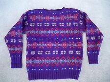 Vintage Polo Ralph By Lauren Mens XOXO Hugs & Kisses Crewneck Sweater Size Small