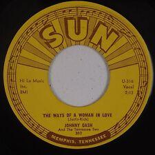 JOHNNY CASH: The Ways of A Woman SUN 302 Rockabilly 45 rare HEAR