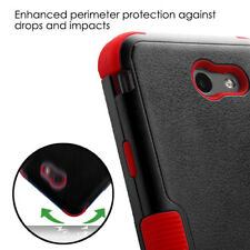 Samsung Galaxy Halo I8520 - HYBRID HARD&SOFT RUBBER ARMOR IMPACT CASE BLACK RED