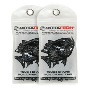 """2 14"""" Rotatech Chainsaw Saw Chain Fits Stihl 017 MS170 MS171 MS192 MSE140 MSE170"""