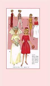 Doll Clothes Pattern 3088 Barbie Midge Wonder Woman Supergirl Batgirl Samantha