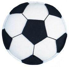 """Loveable Creations Quality Felt 3D Wall Decoration Soccer Ball 9"""" Black/White"""