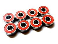 8 Pack Xtreme ABEC 5 SWISS REDS 608 SKATEBOARD RATED BEARINGS SCOOTER UK SELLER