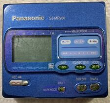 Panasonic Sj-Mr200 Recorder Personal MiniDisc Player