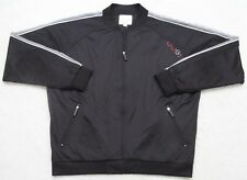 Coogi Jacket Coat Black White Gray Athletic XXL Mens Man Polyester Zip Up Solid