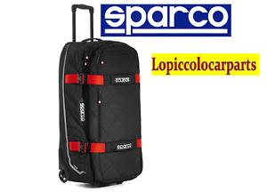 SPARCO BORSONE TOUR DA VIAGGIO GRANDE TROLLEY NERO/ROSSO 016437NRRS