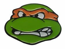 Teenage Mutant Ninja Turtles TMNT Michelangelo Orange Metal/Enamel Belt Buckle