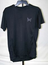 TAPOUT Black Solid Print Short Sleeve Polyester Athletic Shirt M SALE!!
