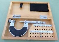 """CSE Gewinde Bügelmeßschraube 0-25 + Einsatz W"""" Meßschraube Mikrometer Micrometer"""
