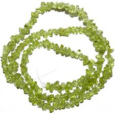 "NG1655 Green Peridot Min-Chip (<4mm) Natural Gemstone Chip Beads 15"" Strand"
