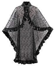 Black Lace Punk Gothic Rave Cape Cloak to fit Standard & Plus Size Aussie Seller