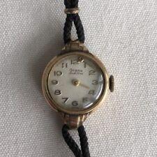 Vintage Grana Women's Wristwatch 14K Gold Filled Round Art Deco Dainty