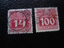 AUTRICHE - timbre yvert et tellier taxe n° 43 46 obl (A6) stamp austria