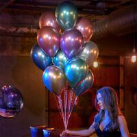 "12 ""BALLONS LATEX METALLIC PERLE BALLON MARIAGE ANNIVERSAIRE FOURNITURES 10PCS"